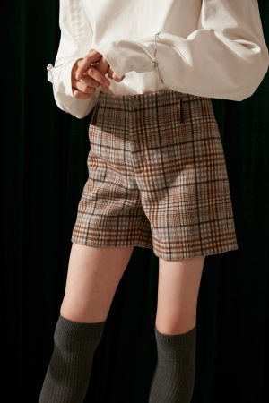 SKYE modern minimalist women fashion wool plaid shorts 6