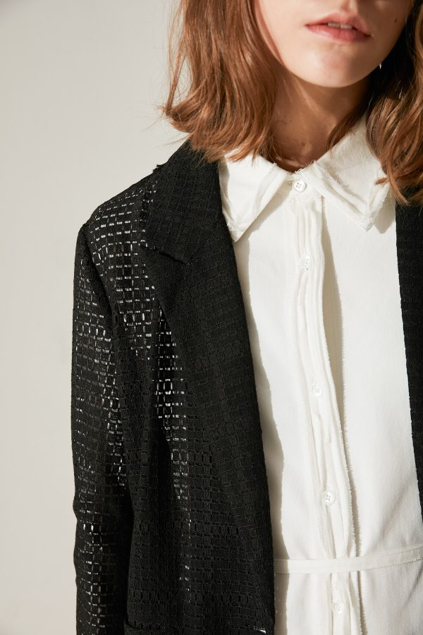 SKYE minimalist women fashion Charlotte blazer lace black 5