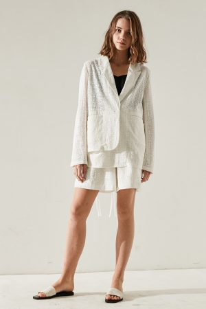 SKYE minimalist women fashion Charlotte blazer lace white 7