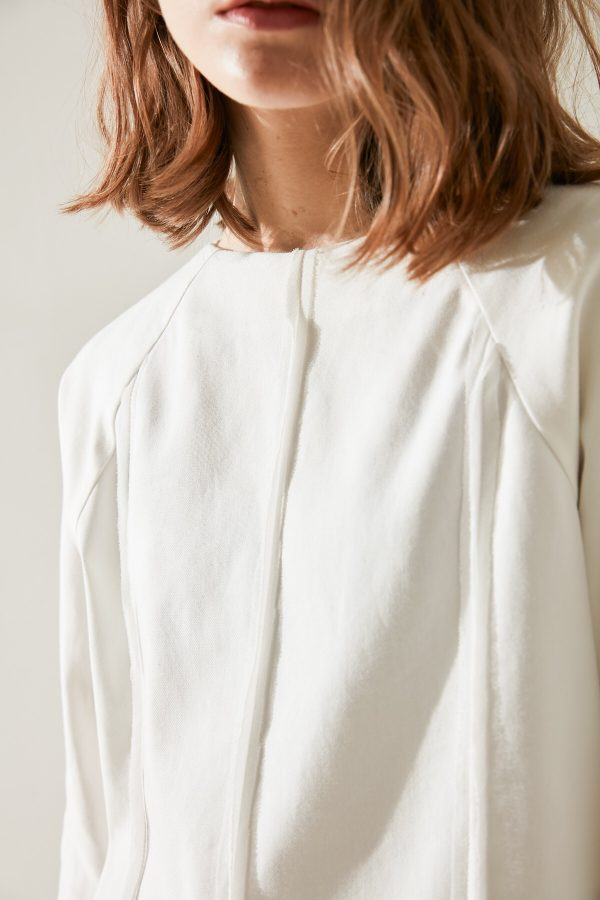 SKYE minimalist women clothing fashion Kate Chiffon Blouse Top white 4