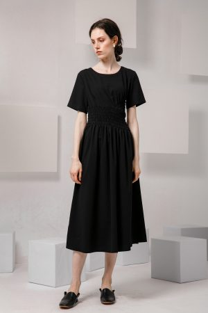 SKYE SF modern minimalist women clothing fashion Loire Dress Black 2