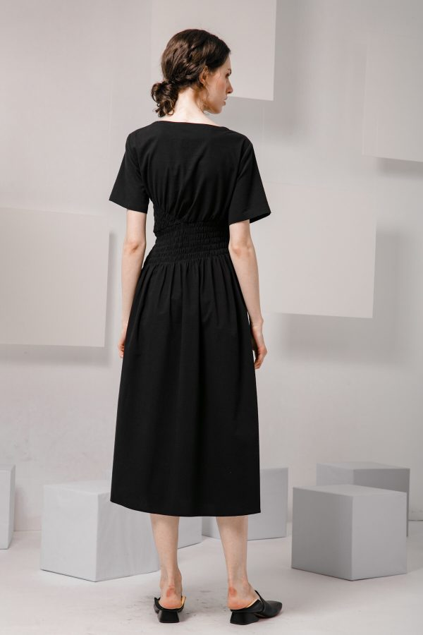 SKYE SF modern minimalist women clothing fashion Loire Dress Black 3