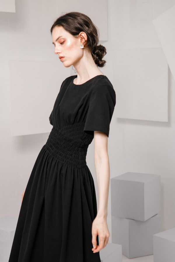 SKYE SF modern minimalist women clothing fashion Loire Dress Black 4