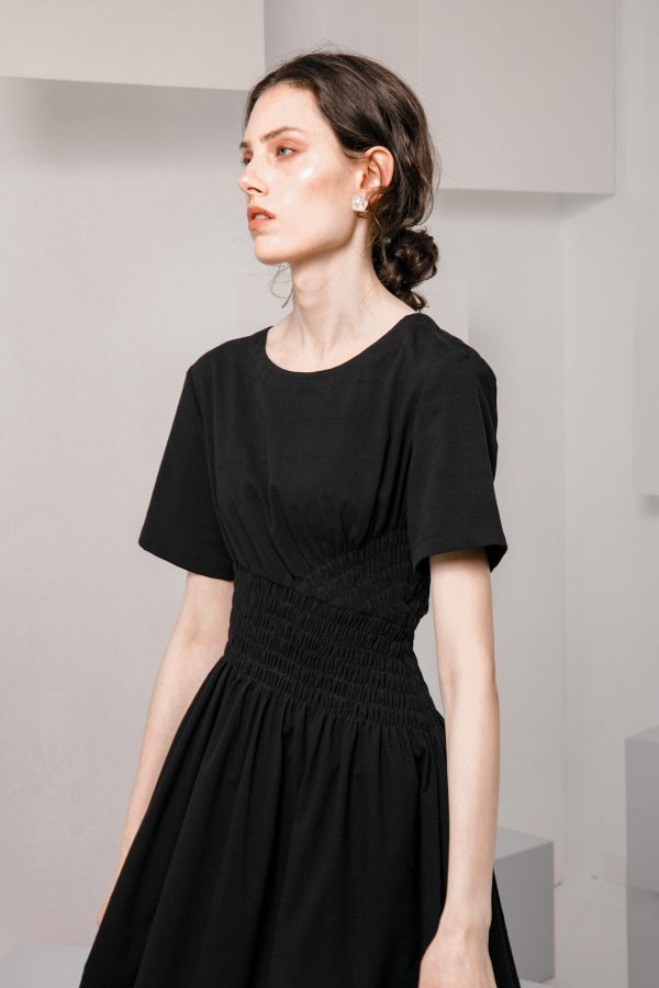 SKYE SF modern minimalist women clothing fashion Loire Dress Black