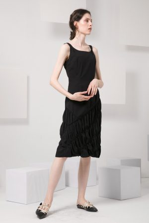 SKYE modern minimalist women clothing fashion Abella Dress black 3