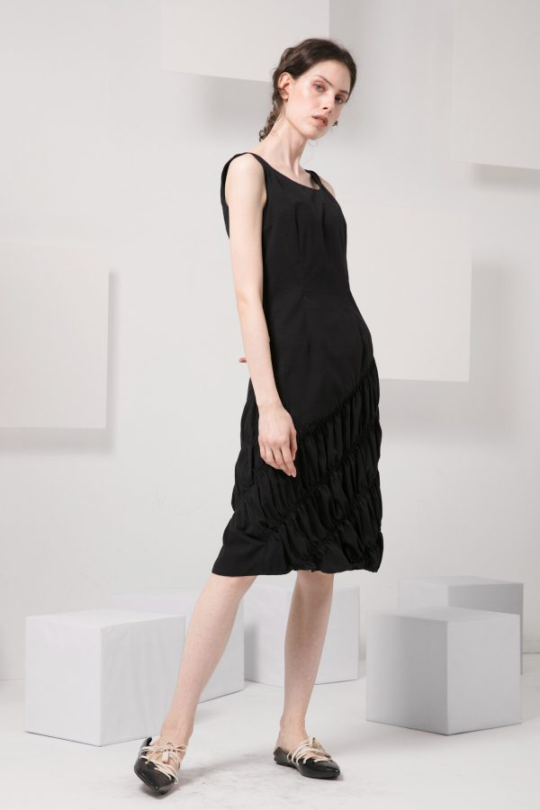 SKYE modern minimalist women clothing fashion Abella Dress black 4