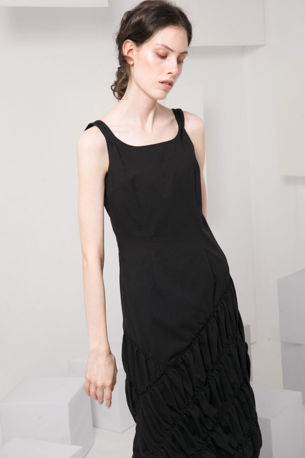 SKYE modern minimalist women clothing fashion Abella Dress black 5