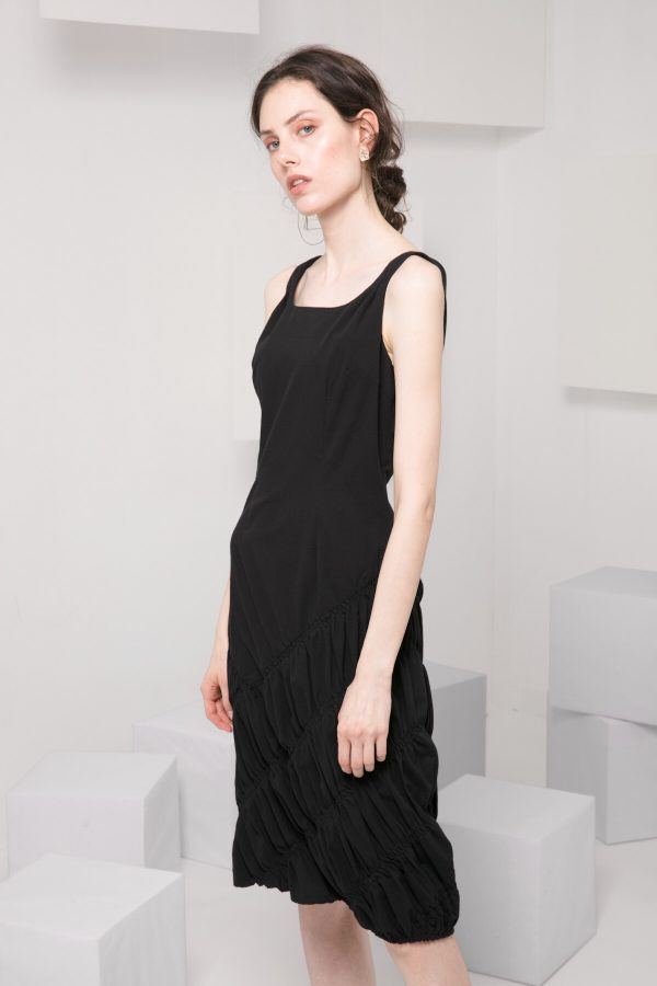 SKYE modern minimalist women clothing fashion Abella Dress black 6
