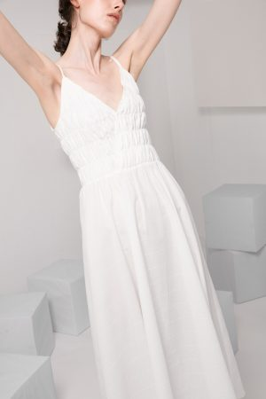 SKYE modern minimalist women clothing fashion Amelie Dress white 2