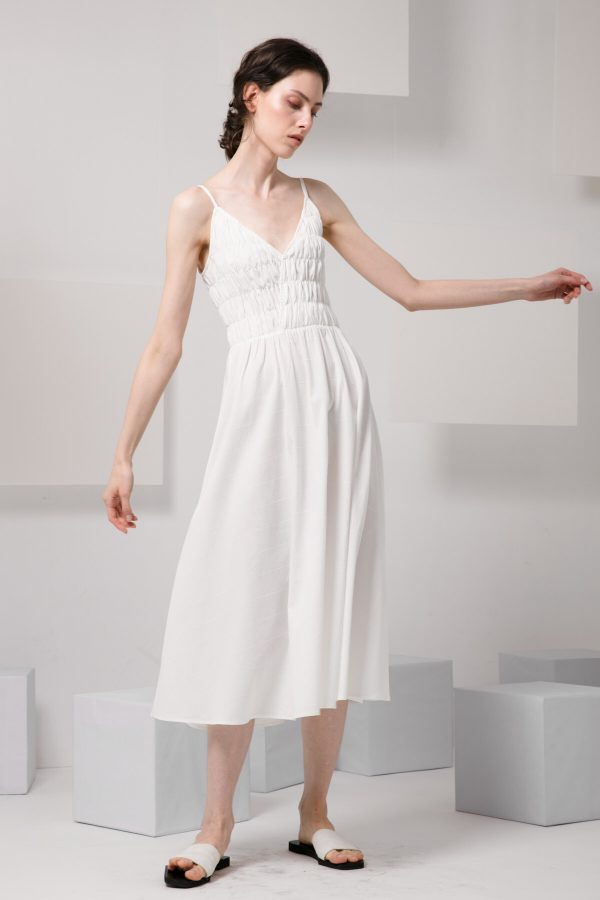 SKYE modern minimalist women clothing fashion Amelie Dress white 6