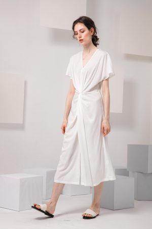 SKYE modern minimalist women clothing fashion Calla Dress white 3