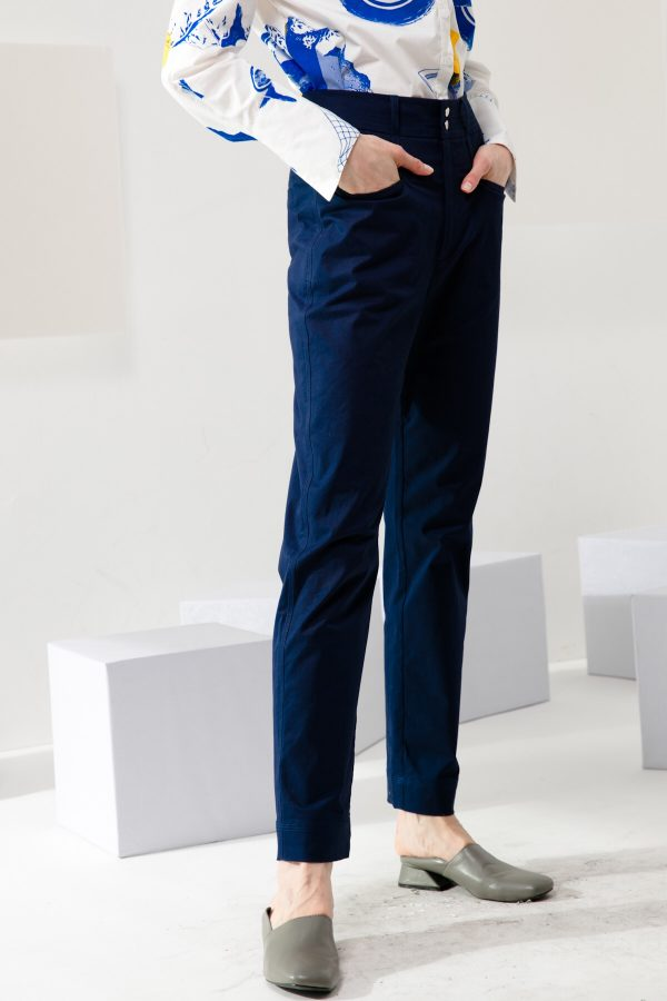 SKYE modern minimalist women clothing fashion Elise Pants blue 3