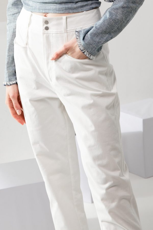 SKYE modern minimalist women clothing fashion Elise Pants white 2