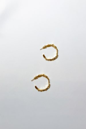 SKYE modern minimalist women fashion accessories Orion 16K Gold Hoops