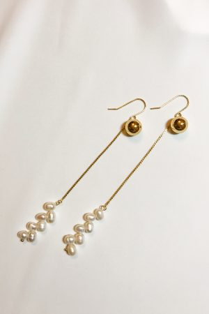 SKYE modern minimalist women fashion accessories Sakura Pearl Earrings