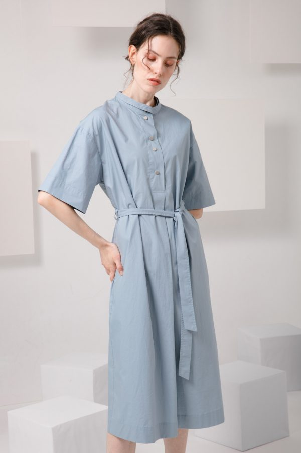 SKYE SF modern minimalist women clothing fashion Essi Shirt Dress light blue 2