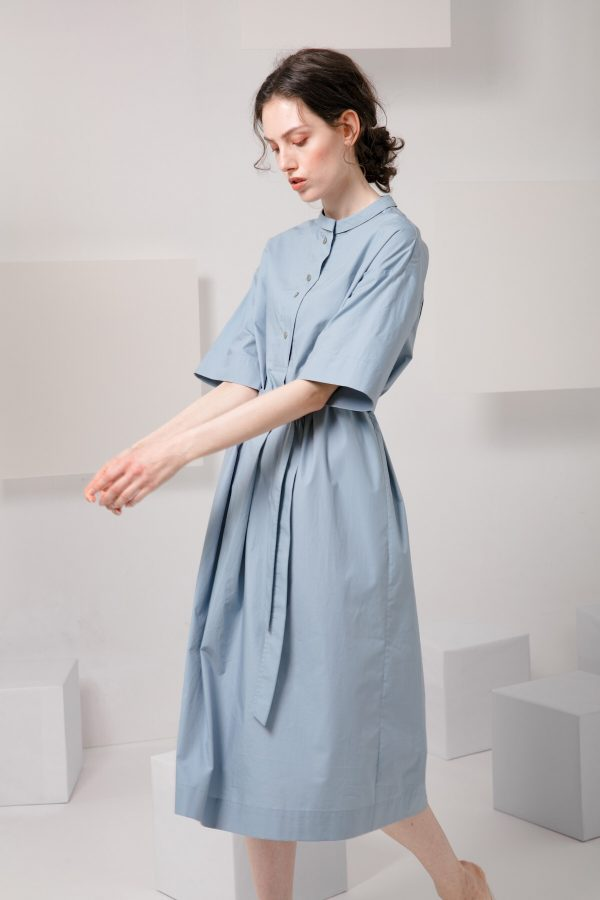 SKYE SF modern minimalist women clothing fashion Essi Shirt Dress light blue 5