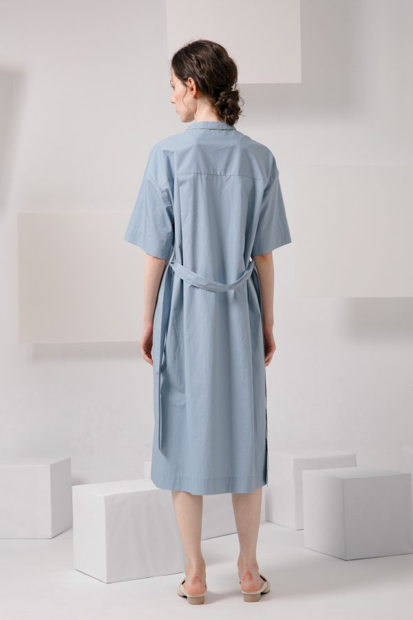 SKYE SF modern minimalist women clothing fashion Essi Shirt Dress light blue 6