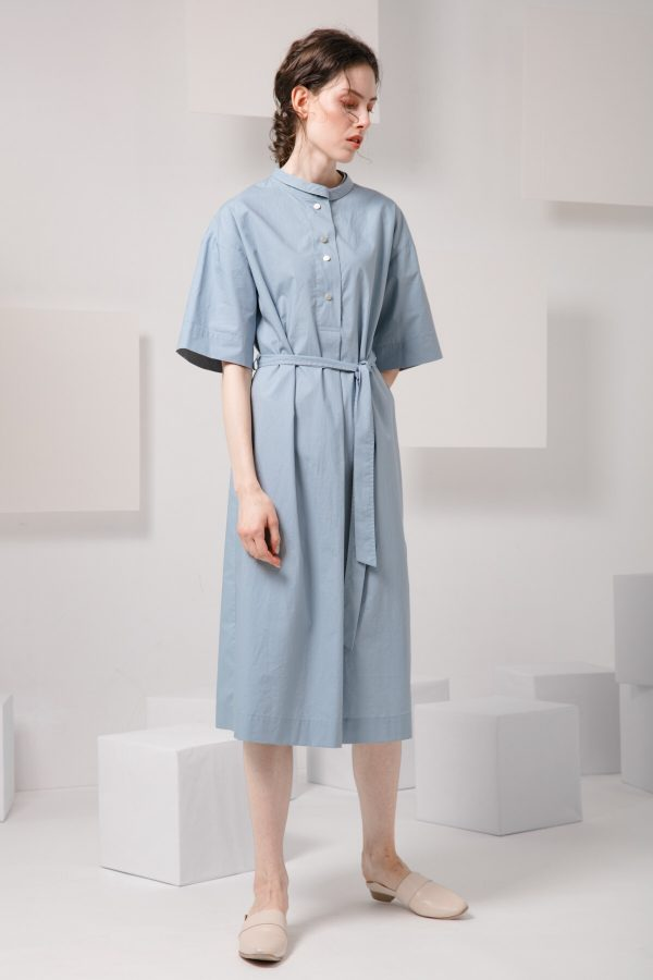 SKYE SF modern minimalist women clothing fashion Essi Shirt Dress light blue