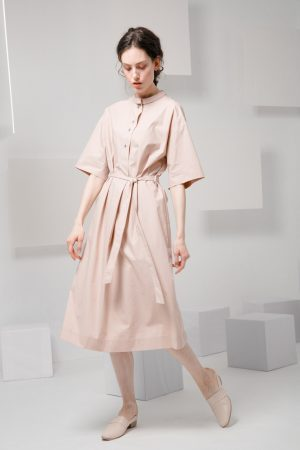 SKYE SF modern minimalist women clothing fashion Essi Shirt Dress light pink 2