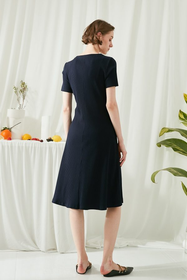 SKYE SF modern minimalist women clothing fashion Joie Knit Dress Indigo 4