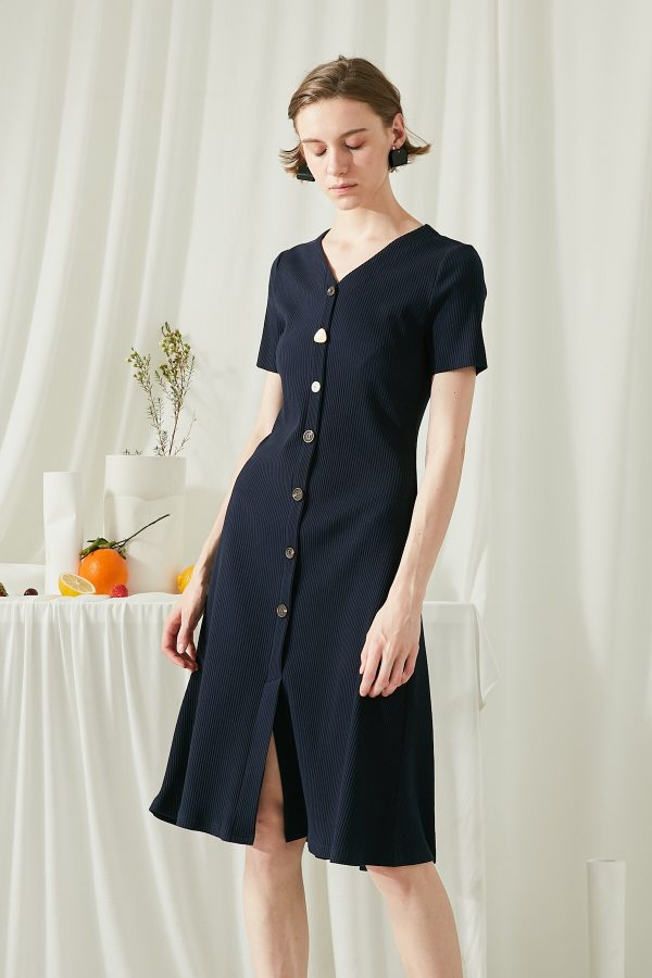 SKYE SF modern minimalist women clothing fashion Joie Knit Dress Indigo 5