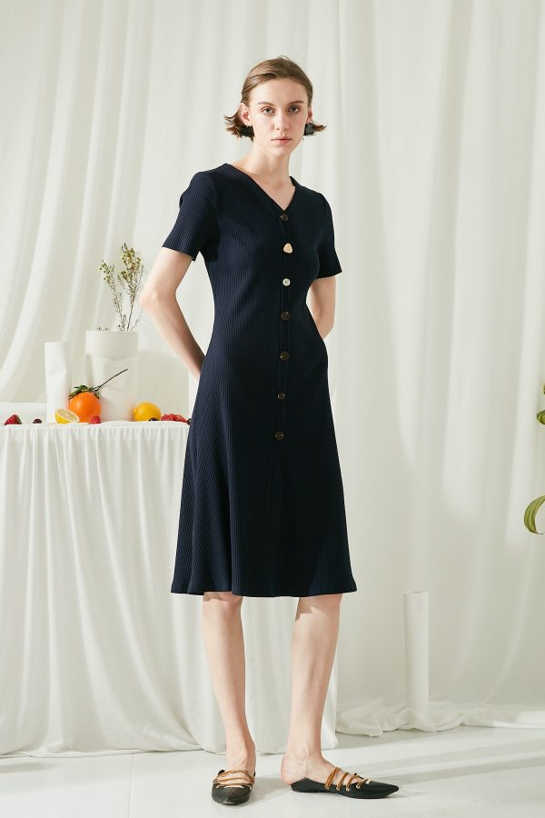 SKYE SF modern minimalist women clothing fashion Joie Knit Dress Indigo