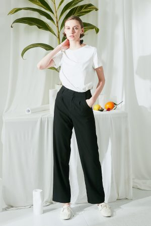 SKYE SF modern minimalist women clothing fashion Brielle Pants Black 2