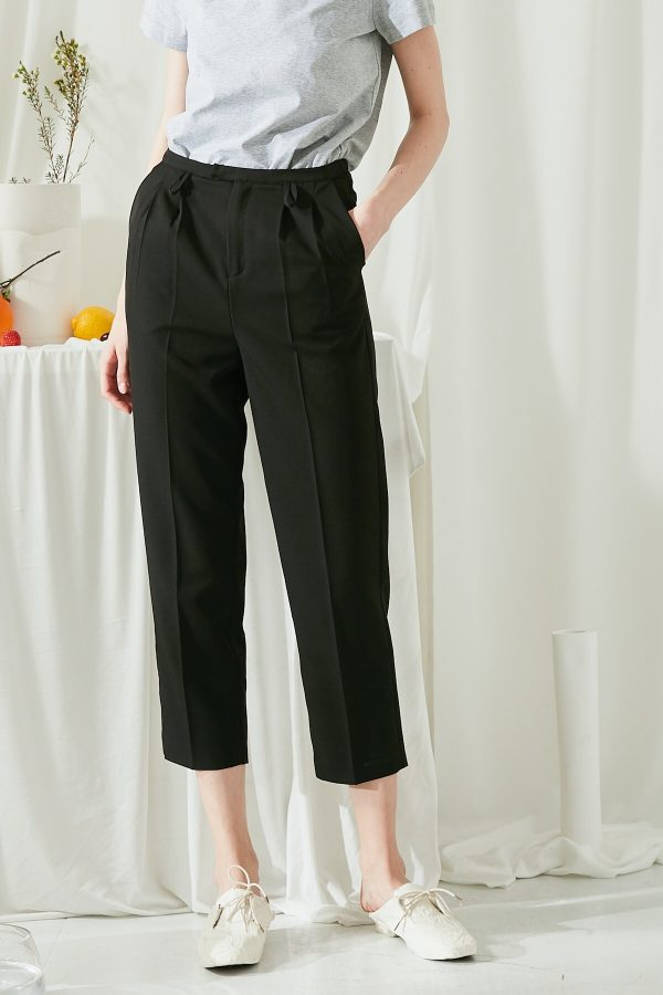 SKYE SF modern minimalist women clothing fashion Brienne Capri Black 6