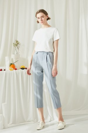 SKYE SF modern minimalist women clothing fashion Brienne Capri Blue