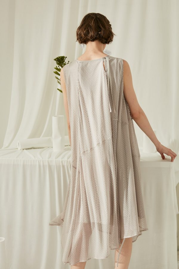 SKYE San Francisco SF shop ethical modern minimalist quality women clothing fashion ss19 Estella Dress light grey 2