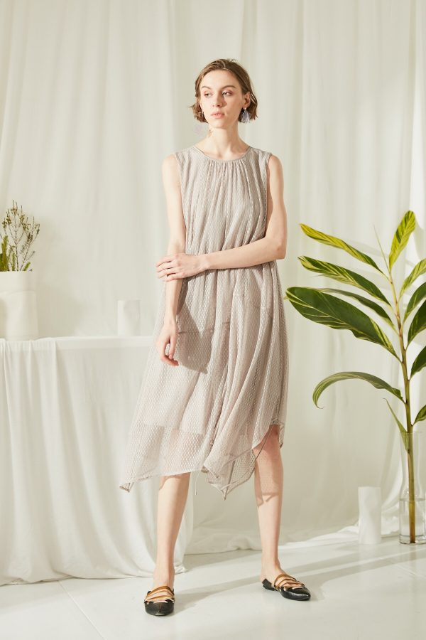 SKYE San Francisco SF shop ethical modern minimalist quality women clothing fashion ss19 Estella Dress light grey 5
