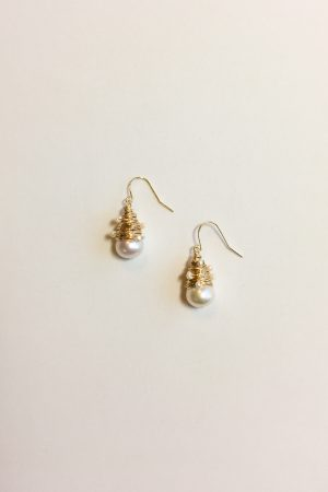 SKYE modern minimalist women fashion accessories Iseya 18K Gold Filled Freshwater Pearl Earrings 5