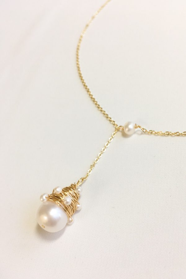 SKYE modern minimalist women fashion accessories Issey 18K Gold Filled Freshwater Pearl Necklace 3
