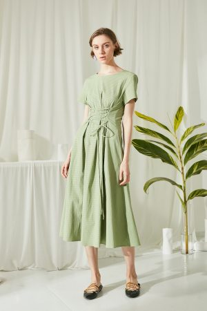 SKYE San Francisco SF shop ethical modern minimalist quality women clothing fashion ss19 Jaylee Corset Dress green 2