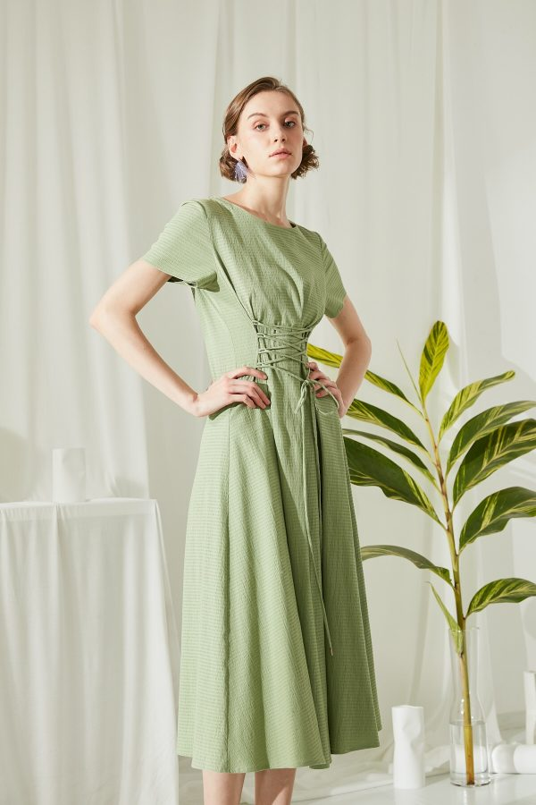 SKYE San Francisco SF shop ethical modern minimalist quality women clothing fashion ss19 Jaylee Corset Dress green 3