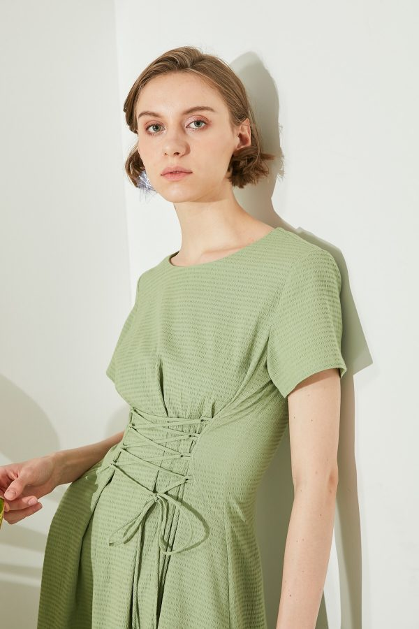 SKYE San Francisco SF shop ethical modern minimalist quality women clothing fashion ss19 Jaylee Corset Dress green 4