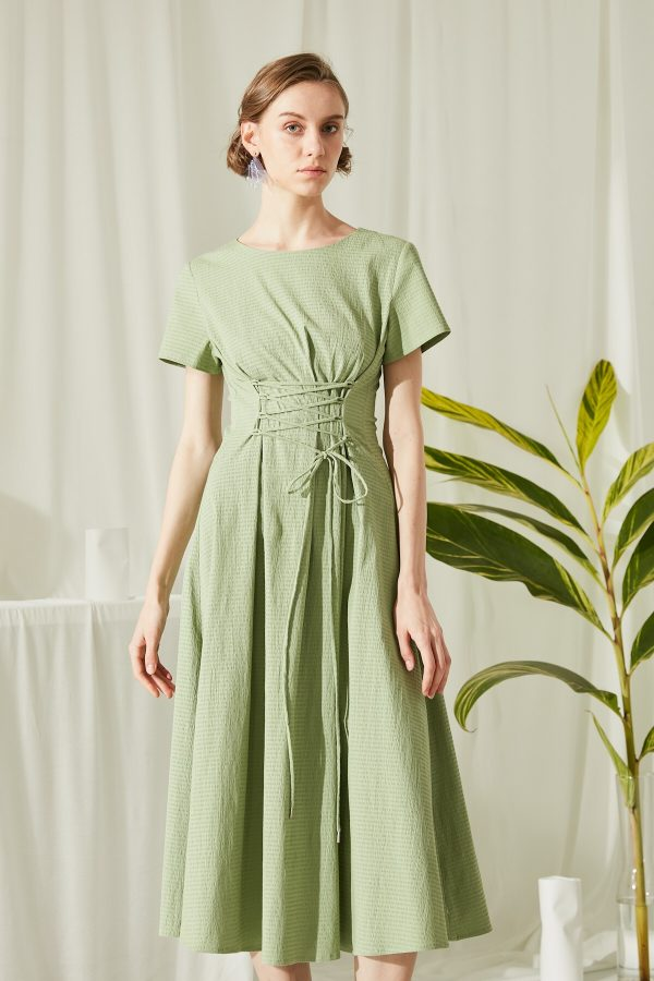 SKYE San Francisco SF shop ethical modern minimalist quality women clothing fashion ss19 Jaylee Corset Dress green 5