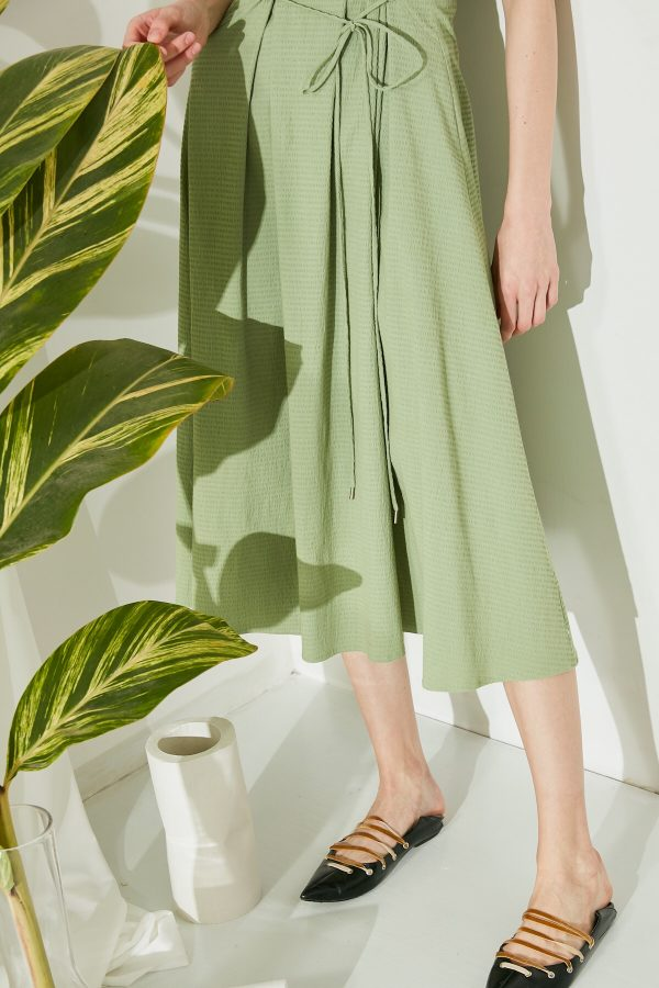 SKYE San Francisco SF shop ethical modern minimalist quality women clothing fashion ss19 Jaylee Corset Dress green 6
