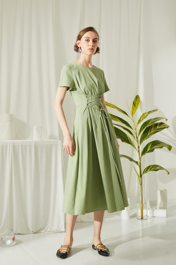 SKYE San Francisco SF shop ethical modern minimalist quality women clothing fashion ss19 Jaylee Corset Dress green