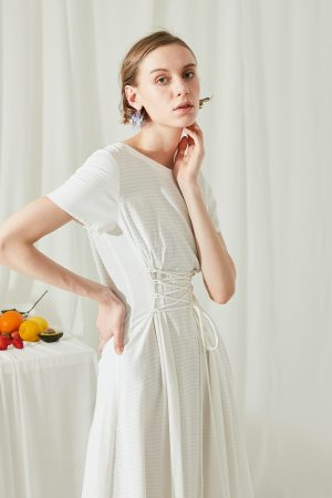 SKYE San Francisco SF shop ethical modern minimalist quality women clothing fashion ss19 Jaylee Corset Dress white 3