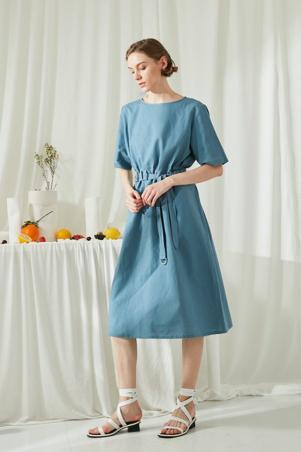 SKYE San Francisco SF shop ethical modern minimalist quality women clothing fashion ss19 Zoey Shirt Dress blue 4