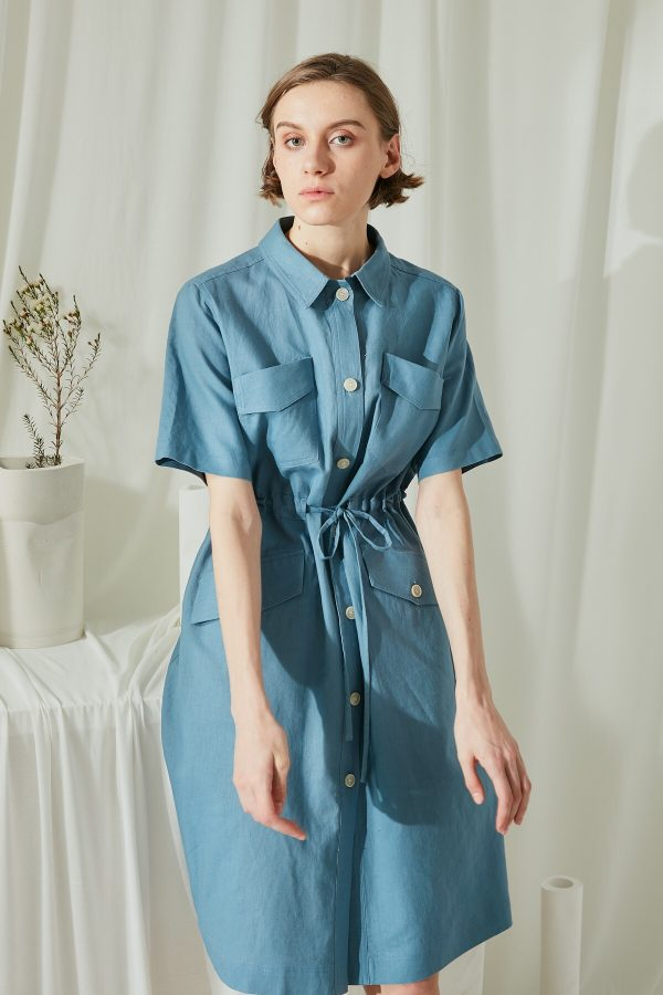 SKYE San Francisco SF shop ethical modern minimalist quality women clothing fashion Elodie Shirt Dress 3