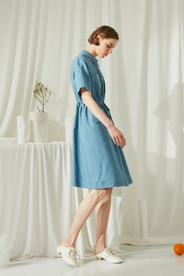 SKYE San Francisco SF shop ethical modern minimalist quality women clothing fashion Elodie Shirt Dress