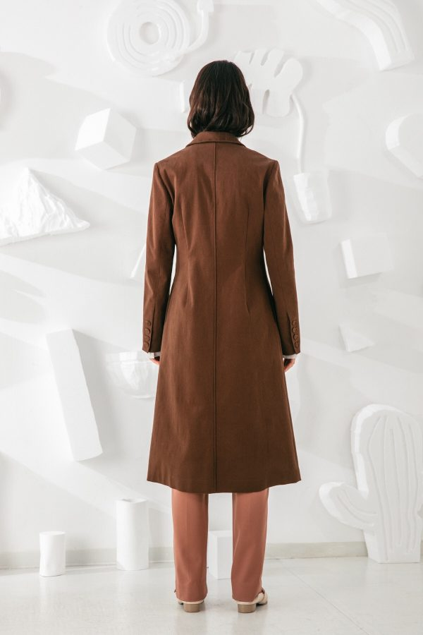 SKYE San Francisco SF shop ethical modern minimalist quality women clothing fashion Laurent Coat brown 2