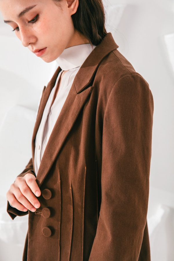 SKYE San Francisco SF shop ethical modern minimalist quality women clothing fashion Laurent Coat brown 6