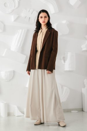 SKYE San Francisco SF shop ethical modern minimalist quality women clothing fashion Marcel Blazer brown