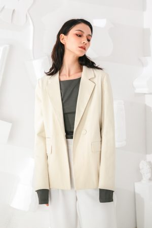 SKYE San Francisco SF shop ethical modern minimalist quality women clothing fashion Marcel Blazer white 3