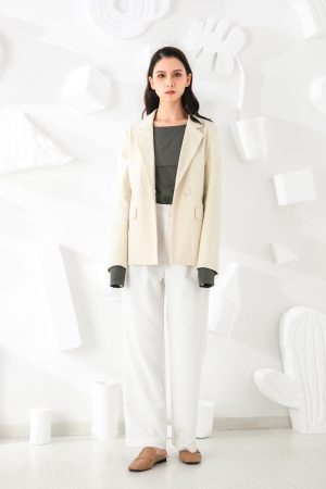 SKYE San Francisco SF shop ethical modern minimalist quality women clothing fashion Marcel Blazer white