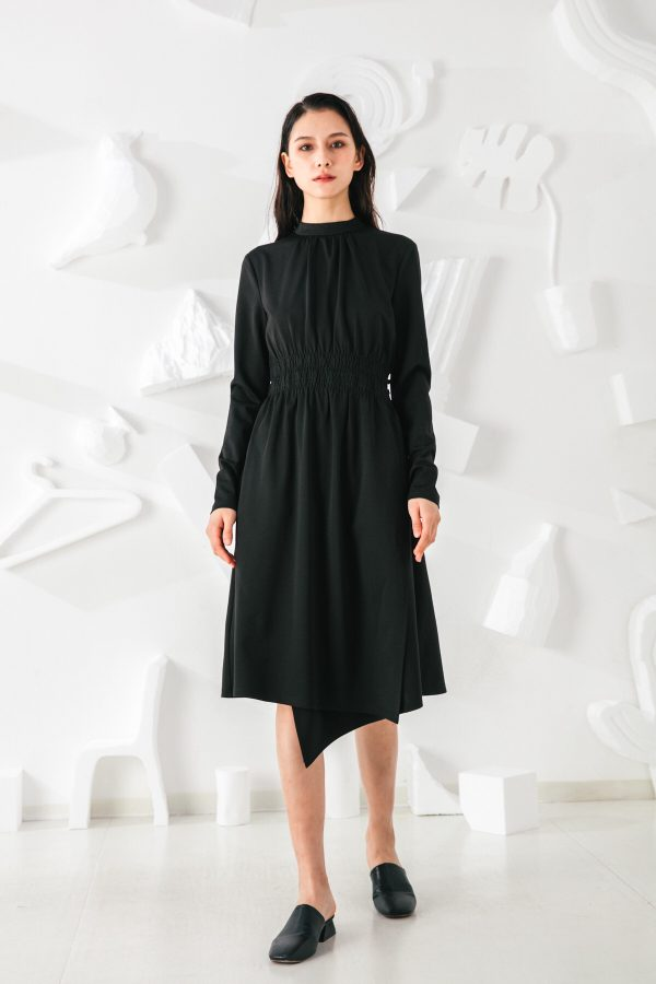 SKYE San Francisco SF shop ethical modern minimalist quality women clothing fashion Mirabelle Dress black 2